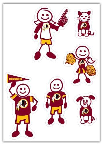 Siskiyou NFL Washington Redskins Small Family Decal Set ()