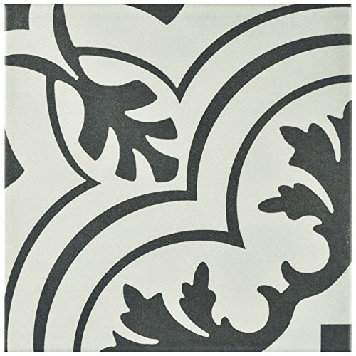 SomerTile FRC8TWVT Fifties Ceramic Floor and Wall Tile, 7.75