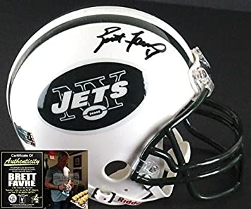 Amazon.com  Brett Favre Autographed Mini Helmet - Riddell - Autographed NFL  Mini Helmets  Sports Collectibles ce9259724