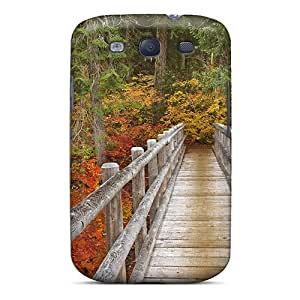 linJUN FENGTpu Case Cover Compatible For Galaxy S3/ Hot Case/ Mckenzie River Trail Bridge In Oregon