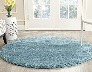 Safavieh Milan Shag Collection SG180-6060 Aqua Blue Round Area Rug (3' Diameter) (B01GS3NBOY) | Amazon price tracker / tracking, Amazon price history charts, Amazon price watches, Amazon price drop alerts
