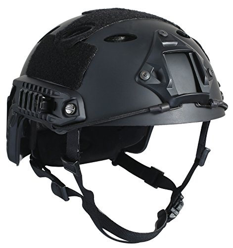 OneTigris PJ Type Tactical Fast Helmet for Airsoft Paintball (Black)