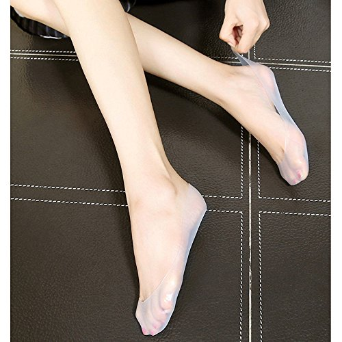 Sport Accessories M and F 1 pair Silicone Gel Foot Socks, Non-slip Hidden Softening Spa for Say bye to Cracked, Hard Exfoliating Skin & Hello to Baby Smooth Feet