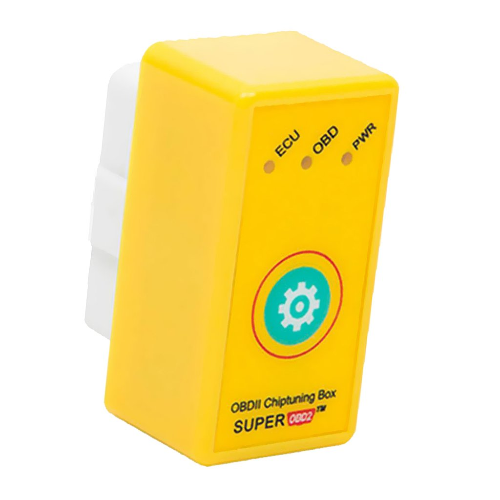MagiDeal OBD2 OBDII Chip Tuning Box Fuel Saving for Benzine Car Yellow