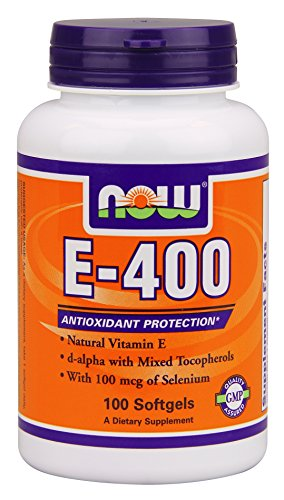 Now Foods E-400, soft-gels, 100-Count (emballage peut varier)