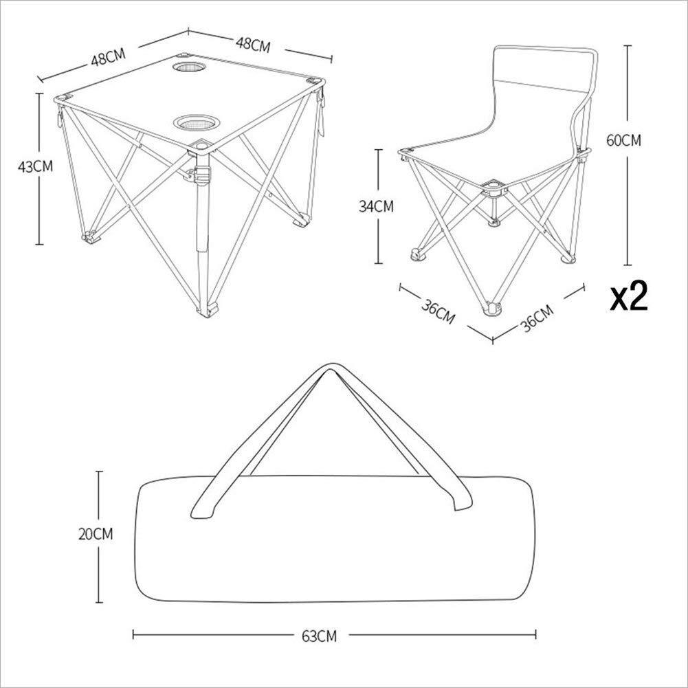 LJFYMX Mesa y sillas de Camping Juego de Mesa y Silla Plegable al ...