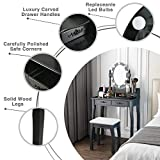 Mecor Makeup Vanity Table w/10 LED Lights