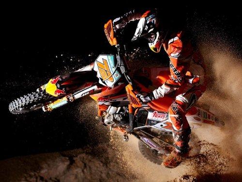 Motocross Jump Dirt Bike Motorcycle Print Poster
