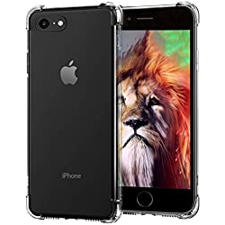 iPhone 7 Case, iPhone 8 Case, Portin iPhone 7 Cover Crystal Clear Shock Absorption Durable TPU Bumper Protection Super Slim Soft TPU Cover Case for iPhone 7 (2017)/iPhone 8 (2018)