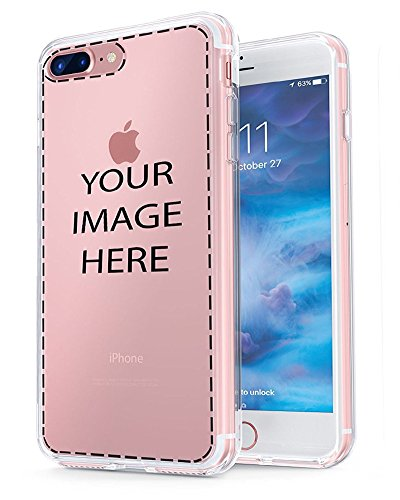 iPhone 7 Plus Customized Case, Personalized Custom Picture Photo HD Printed Cover Case for iphone 7 plus, Soft Thin Rubber Silicone Shock Absorbing Clear Protective Bumper Case, Birthday Xmas Gift (Iphone Personalized Custom)