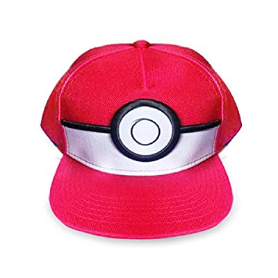 Yeam Pokemon Red Kids 5 Panel Pokeball Snapback Hat