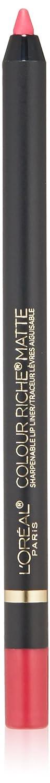 L'Oreal Paris Makeup Colour Riche Comfortable Creamy Matte Pencil Lip Liner, 110 Matte's It, 0.04 oz. 110 Matte's It L' Oreal Paris Cosmetics