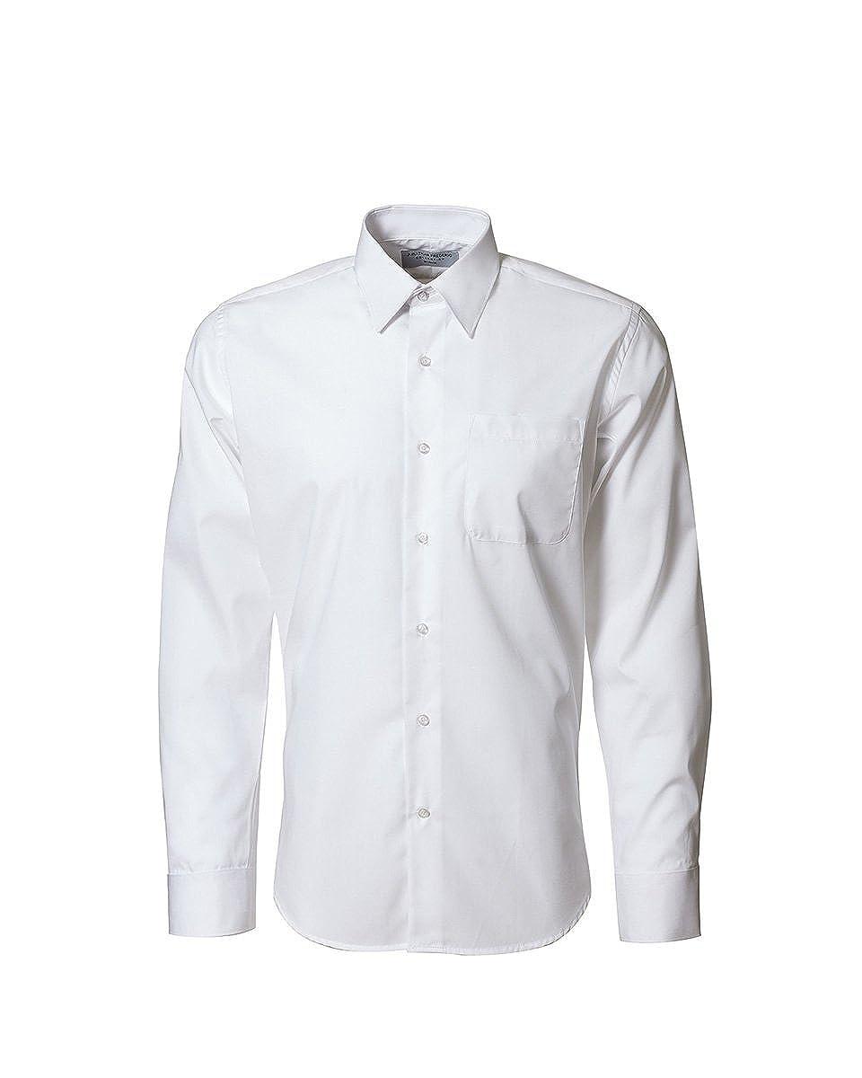 821f0300299 Mens White Dress Shirt Black Collar - DREAMWORKS