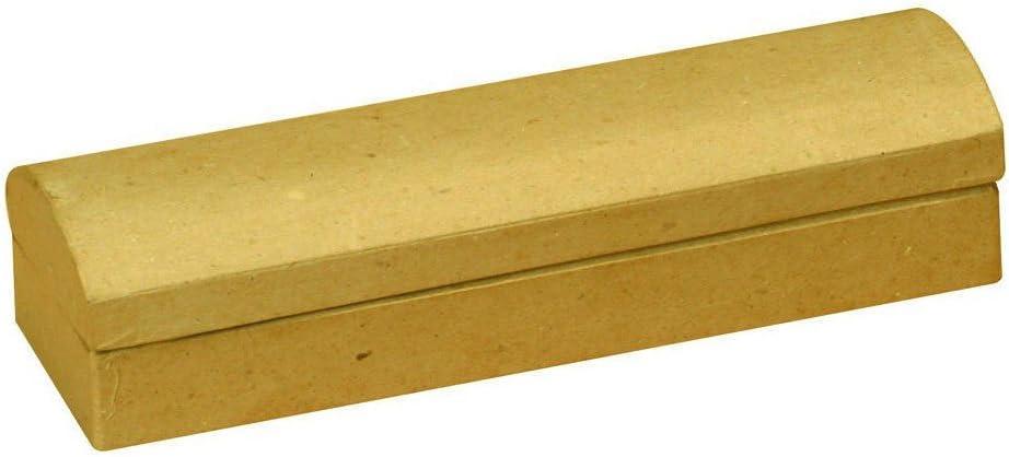 Plumier en carton brut /à d/écorer peindre personnaliser 225x70x45mm