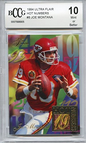 Flair Hot Numbers (1994 ultra flair hot numbers #8 JOE MONTANA niners BGS BCCG 10 Graded Card)