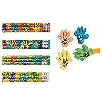 FX/OT High Five Pencil Eraser Bundle ~ 12 High Five Pencils / 12 High 5 Eraser Toppers ~ New