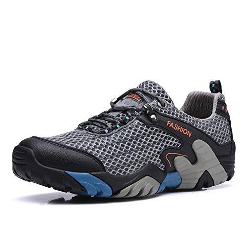 CraneLin Outdoor Hiking Shoes Walking Sneaker Boating Water & Trail Shoes for Men Women CRHW2032-Gray-43