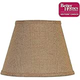 Accent Lamp Shade Uno Fitter, Burlap Does Not Require a Harp or Finial