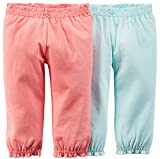 Carter's Baby Girls' 2 Pack Pants (Baby) - Pink/Blue - 12M