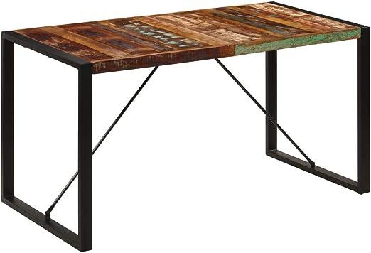 vidaXL Madera Mango Maciza Mesa de Comedor Mobiliario Muebles Casa ...