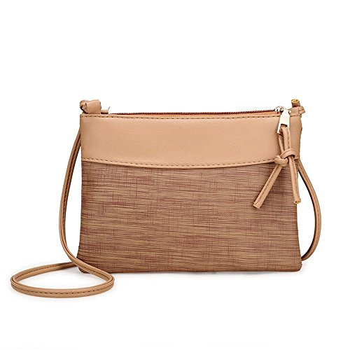 Liraly Women Bags Women Messenger Bags Slim Crossbody Shoulder Bags Handbag Small Body Bags Crossbody Shoulder Bags Mobile Phone Package (Khaki #) ()
