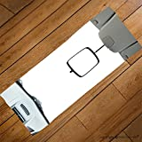 VROSELV Custom Towel Soft and Comfortable Beach Towel-car rear view mirror isolated on white Design Hand Towel Bath Towels For Home Outdoor Travel Use 27.6''x13.8''
