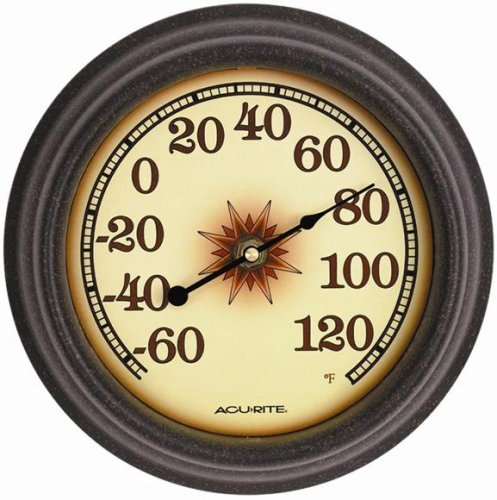 "Chaney Instrument 02354 8-1/2"" Star Thermometer Thermometers, Indoor/Outdoor"