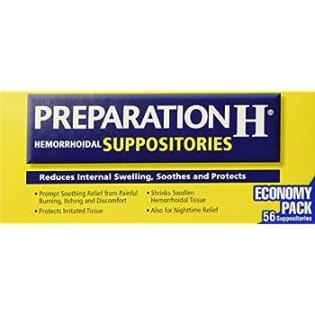 Preparation H Hemorrhoidal Suppositories ~ 56 Count