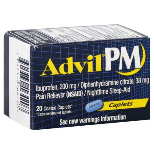 Advil PM Pain Reliever with Sleep Aids 20's Pack of 2 (40 Count) by Advil