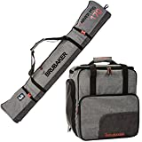 BRUBAKER Combo Ski Boot Bag and Ski Bag for 1 Pair of Ski, Poles,...