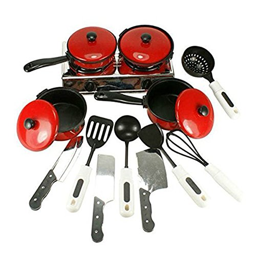 PIXNOR Kitchen Toys Kids Cookware Playset Chef Toy Pans Pots Pretend Play