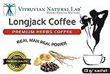 Vitruvian Natural Lab - Premium Herbs LongJack Coffee - Boost Sexual Libido - Increase Testosterone - 8 Sachets Per Box - Tongkat Ali - Guarana - Maca