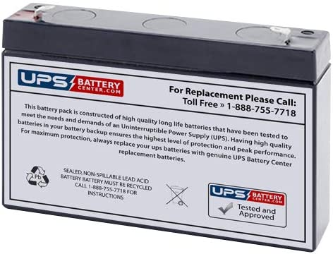 MHB MS7-6B 6V 7Ah Replacement Battery