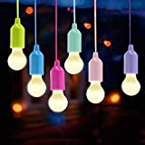Vanow Lamping LED Lamp, Lamps Camping Lantern, Portable 6 Pieces Light for Hiking, Fishing, Desk, Camping, Tent, Garden, BBQ or just as decorative lamp battery operated