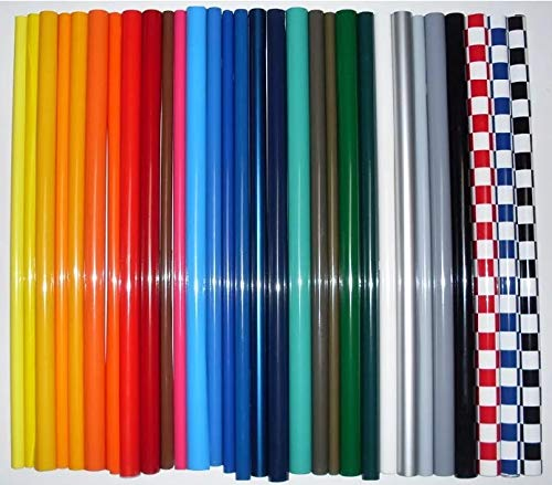 RC Airplane Covering Film 60 x 200cm Red/Yellow/Blue/Green/White/Black Multi-Colors, High Strength Heat Shrinkable RC Plane Covering Material for Balsa Wood Model Airplane (Bright Red, 2 Meters)