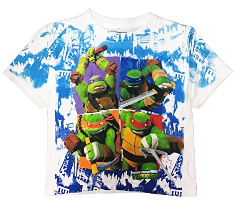 Bio World Teenage Mutant Ninja Turtles Youth Boys T-Shirt (XS, White)