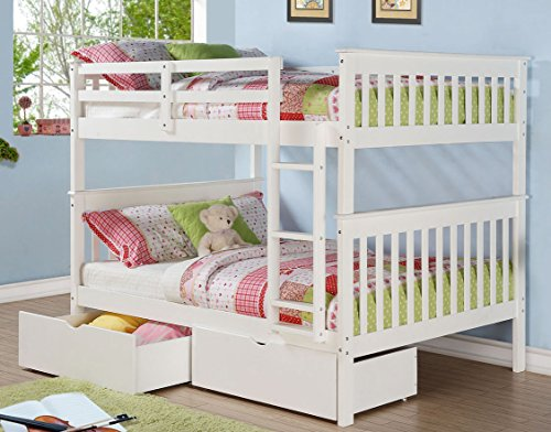 Donco Kids Full Mission Bunkbed with Dual Underbed