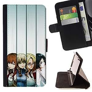 Momo Phone Case / Flip Funda de Cuero Case Cover - Japoneses Cartoon Girls;;;;;;;; - HTC Desire 820