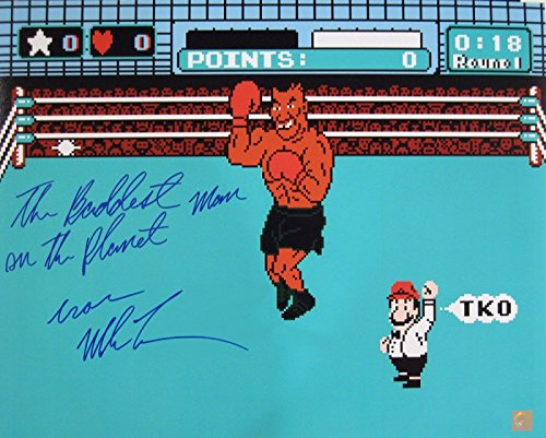 Mike Tyson Signed 16x20 Photo Punch Out