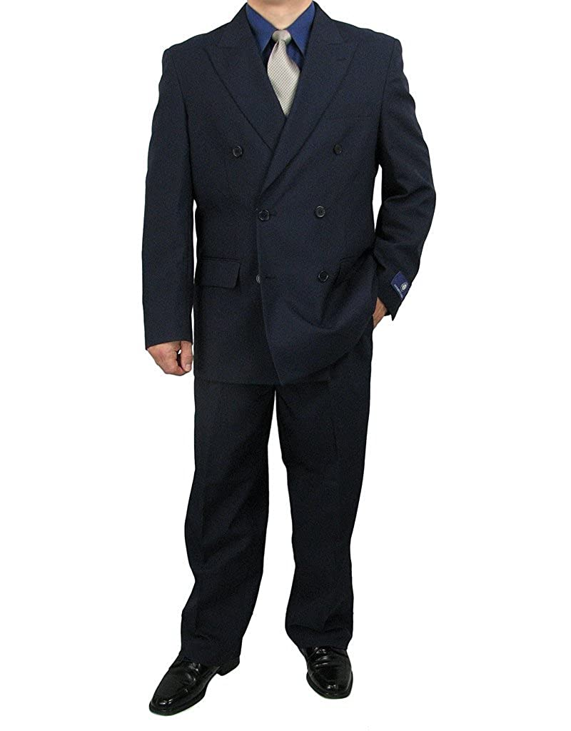 Sharp 2-Piece Double Breasted Men's Dress Suit Triple Blessings