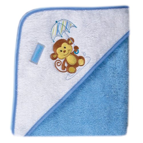 - Luvable Friends Umbrella Animal Hooded Towel - Woven Terry, Blue
