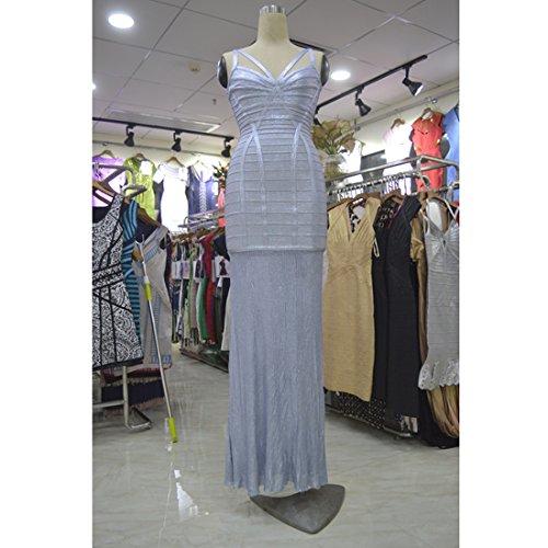 XS HLBCBG gold Damen Silber Gold Kleid TfwI8qfA