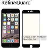RetinaGuard Anti-blue Light Tempered Glass Screen protector for iPhone6S / 6 (Black border) - SGS & Intertek Tested - Blocks Excessive Harmful Blue Light, Reduce Eye Fatigue and Eye Strain