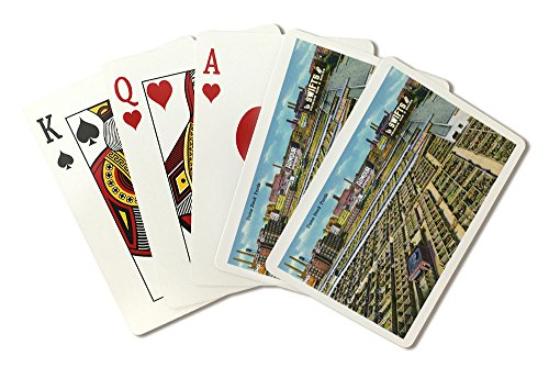 (Chicago, Illinois - Aerial View of the Union Stockyards (Playing Card Deck - 52 Card Poker Size with Jokers))