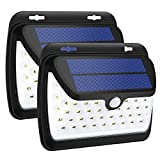 GELOO Solar Lights Outdoor, Wireless 42 LED Motion Sensor Solar Lights with Wide Lighting Area, Waterproof Wall Light Security Night Light for Front Door, Back Yard, Driveway, Garage