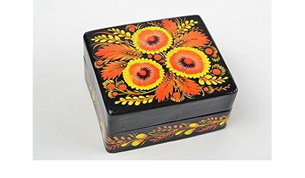 Caja de carton piedra artesanal decorada decoracion de interior ...