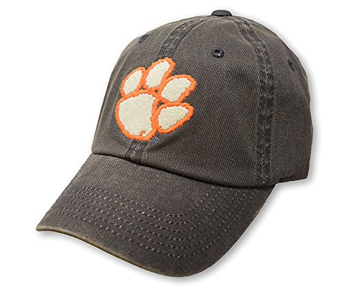 (Top of the World NCAA Clemson Tigers Men's Adjustable Dispatch Charcoal Icon Hat,)