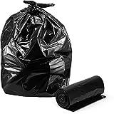 Trash Bags 33 Gallon, Large Black Trash Bags, 100/Coreless Roll, 33