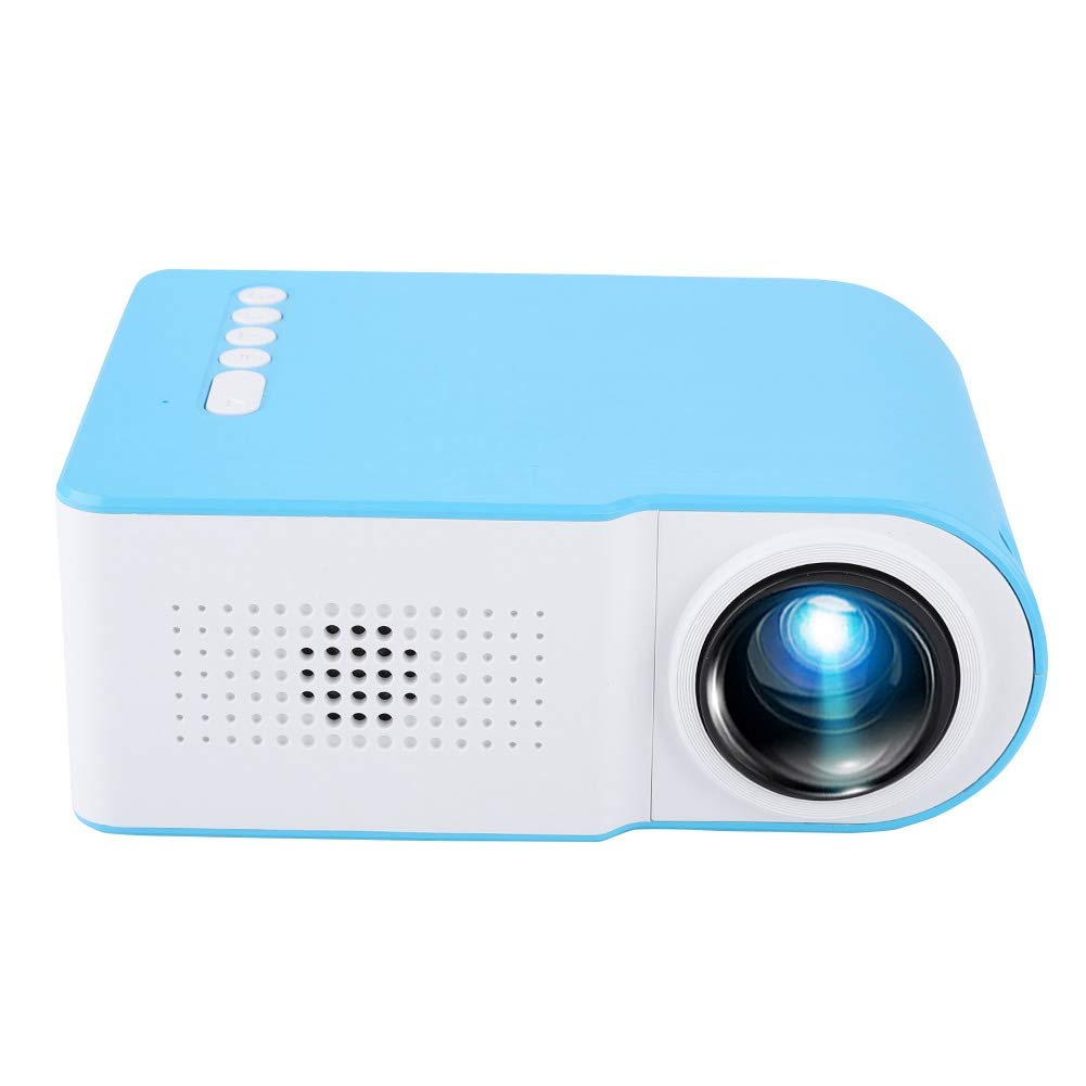 fosa Mini Video Projector LED HD Home Projector, Portable HDMI/USB 1080P Projector Diffuse Reflection Home Cinema Projector for Home Office Hotel, Support Mutli-Language/Photo/Music/TXT(US Plug) by fosa