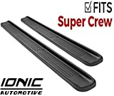 Ionic Factory Style (Fits) 2015-2019 Ford F150 (Fits) 2017 Up Super Duty F250 F350 SuperCrew Cab Only Running Boards Side Steps (38009083052)